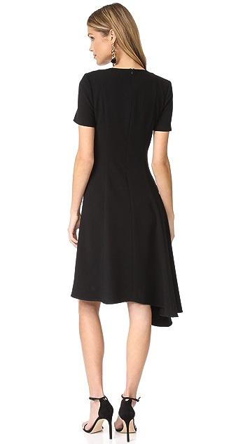 Black Halo Olcay Asymmetrical Dress
