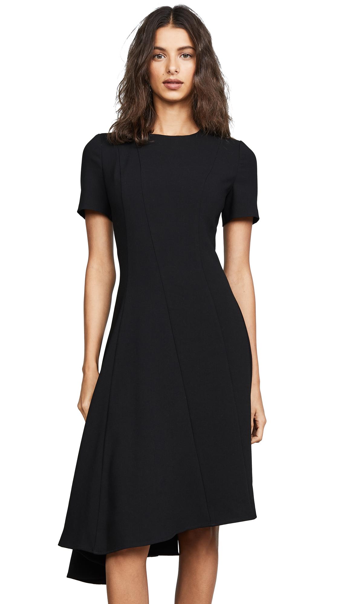 Black Halo Olcay Asymmetrical Dress - Black