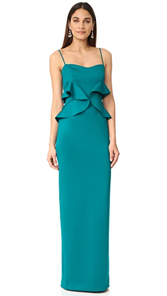 Black Halo Delray Gown In Jade
