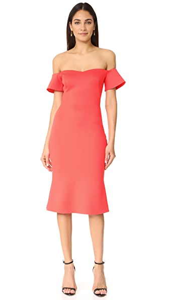 Black Halo Xochi Dress In Canyon Coral