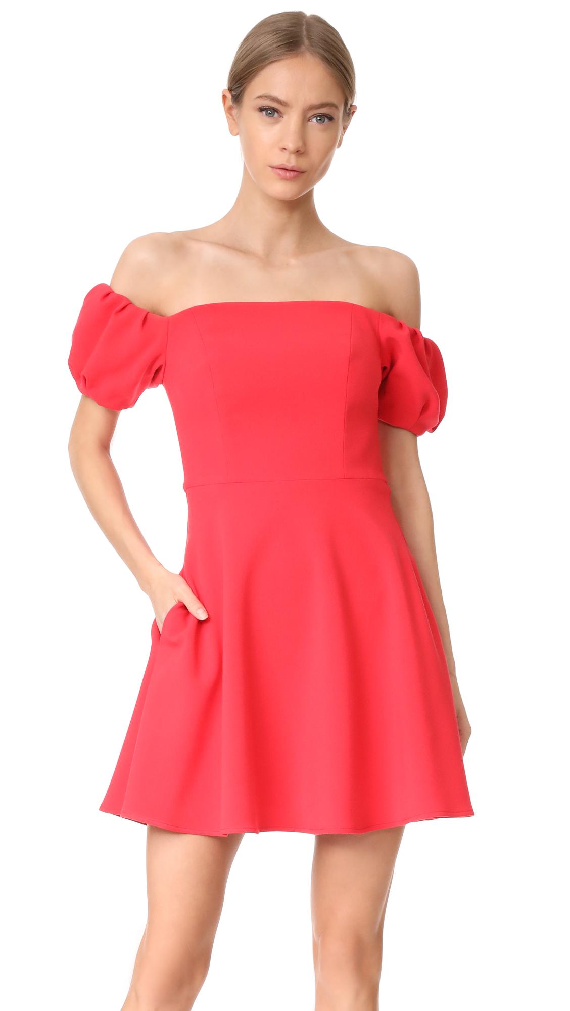 Black Halo Arden Mini Dress - Chic Red