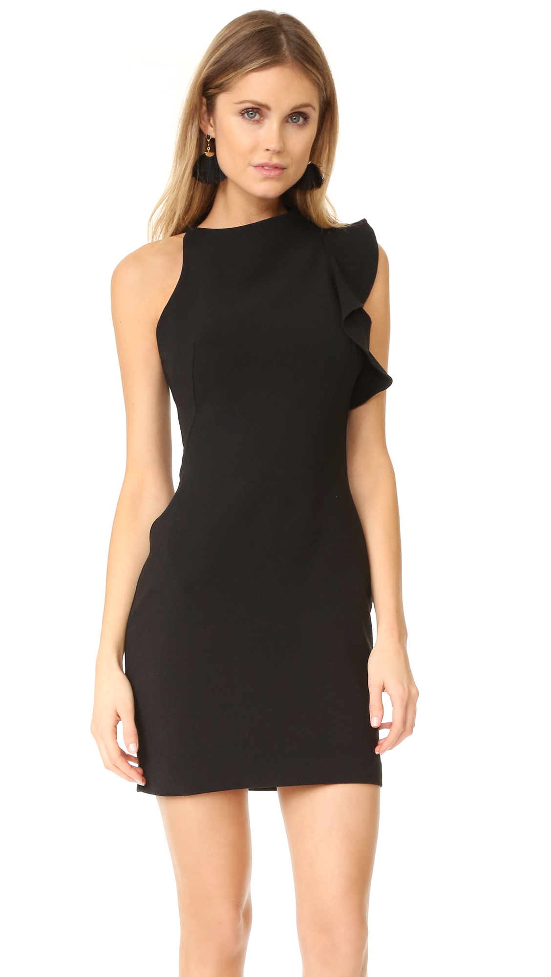 Black Halo Pabla Mini Dress - Black