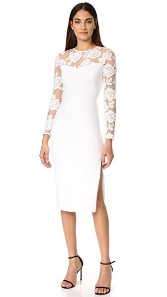 Black Halo Aymee Sheath Dress In Whip Cream/Natural White