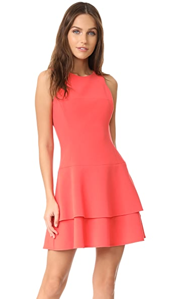 Black Halo Cheryl Mini Dress In Canyon Coral