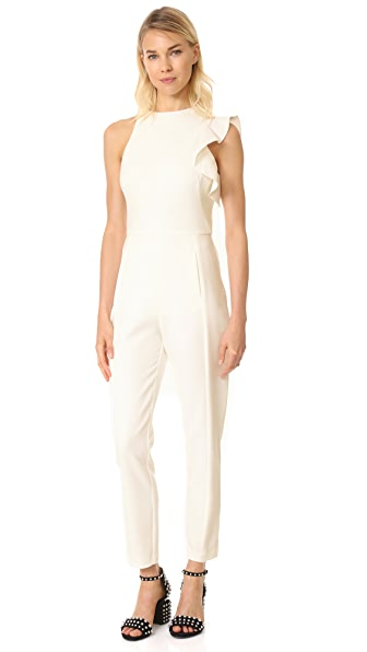 Black Halo Pabla Jumpsuit - Porcelain