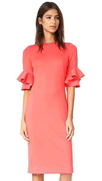 Black Halo Josie Sheath Dress - Canyon Coral