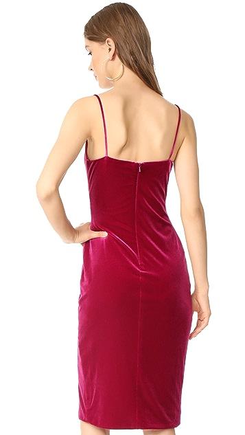 Black Halo Bowery Velvet Sheath Dress
