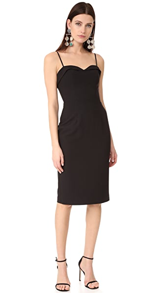 Black Halo Clover Sheath Dress - Black