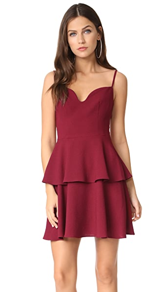 Black Halo Belen Mini Dress - Mulberry