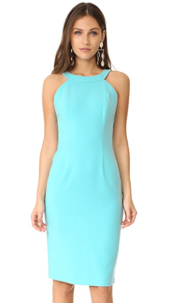 Black Halo Marcelle Dress - Atlantic Aqua