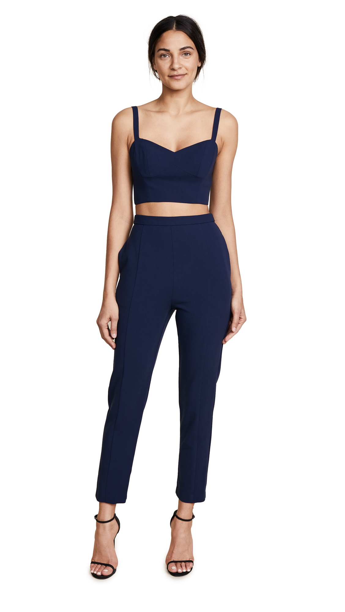 Black Halo Mayka Two Piece Jumpsuit - Pacific Blue