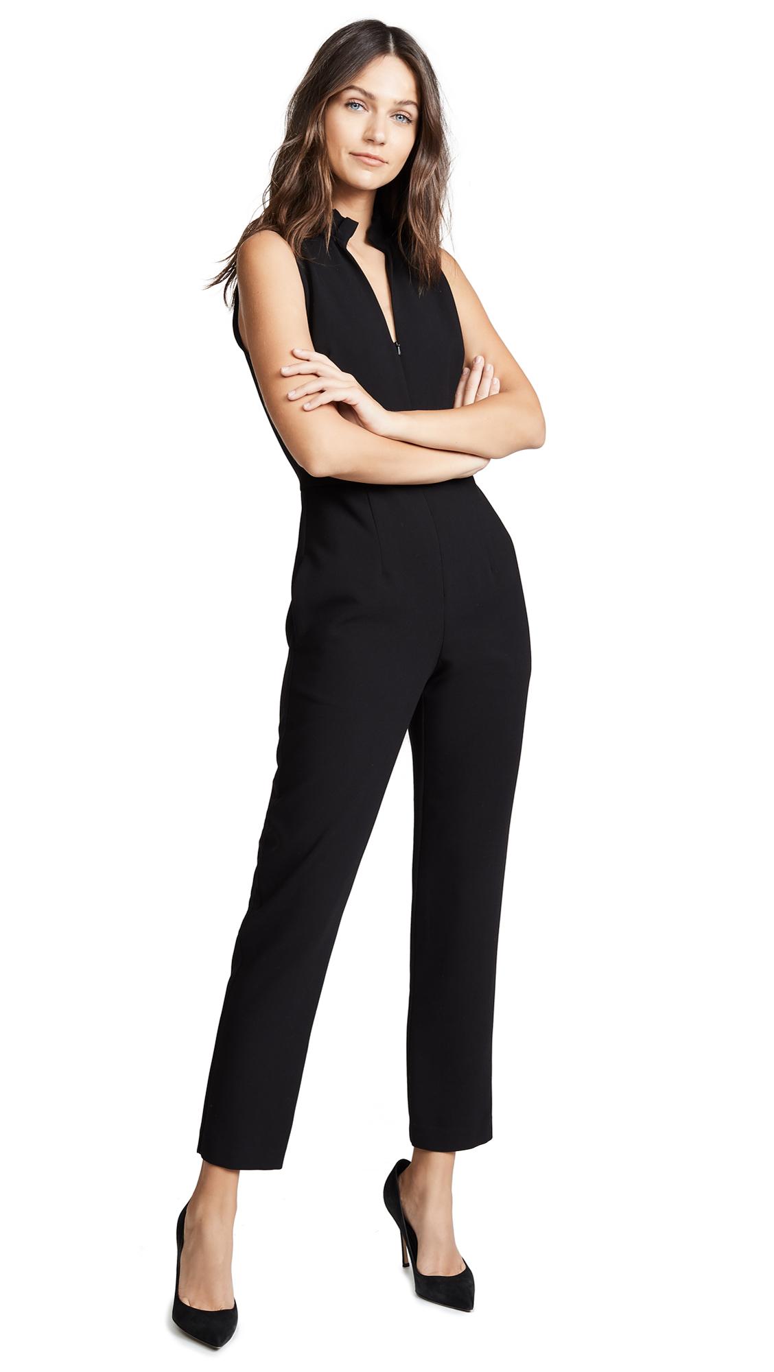 Antoinette Sleeveless Jumpsuit in Black
