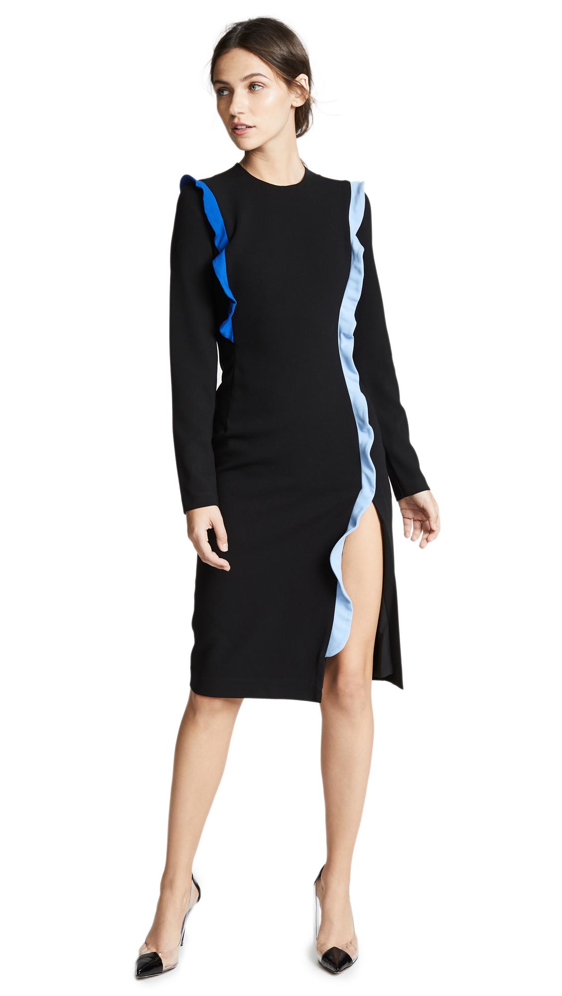 Charla Sheath Dress, Black/Shoreline/Twinkle Blue