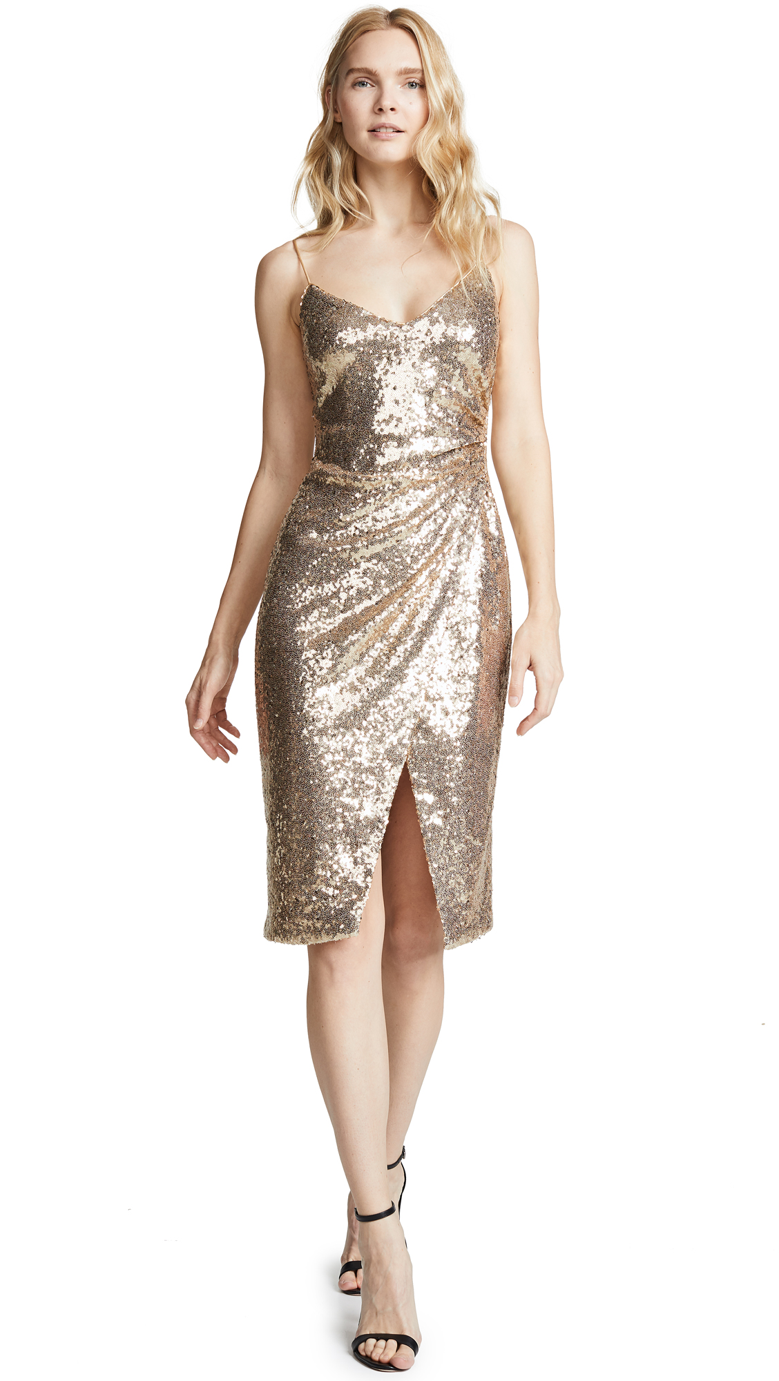 Black Halo Bowery Sequin Sheath Dress