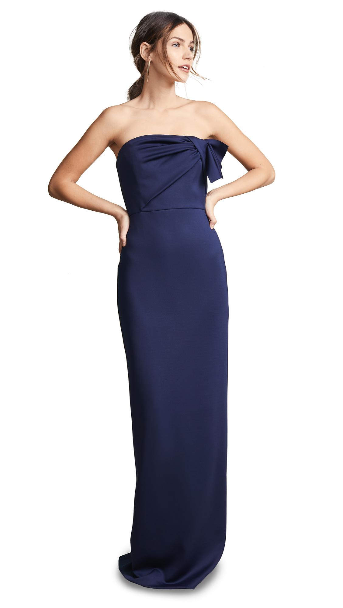 Black Halo Divina Gown - Pacific Blue