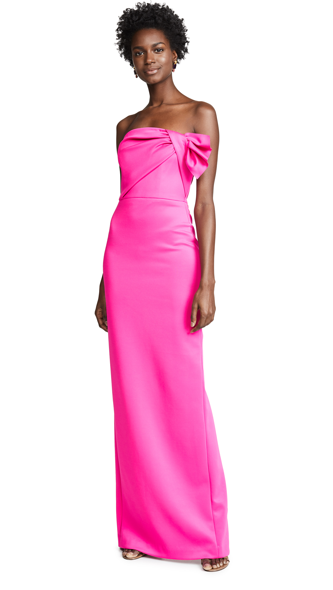 Black Halo Divina Gown - Iconic Pink