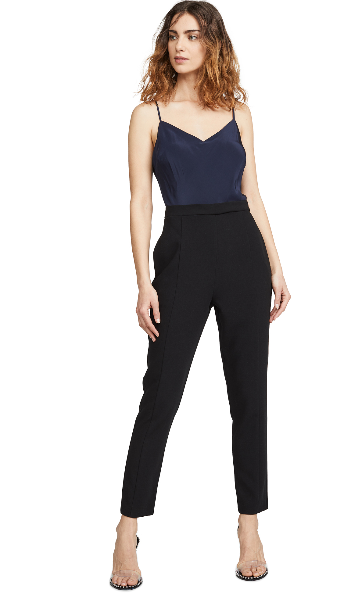 Black Halo Teagun Jumpsuit - Navy/Black