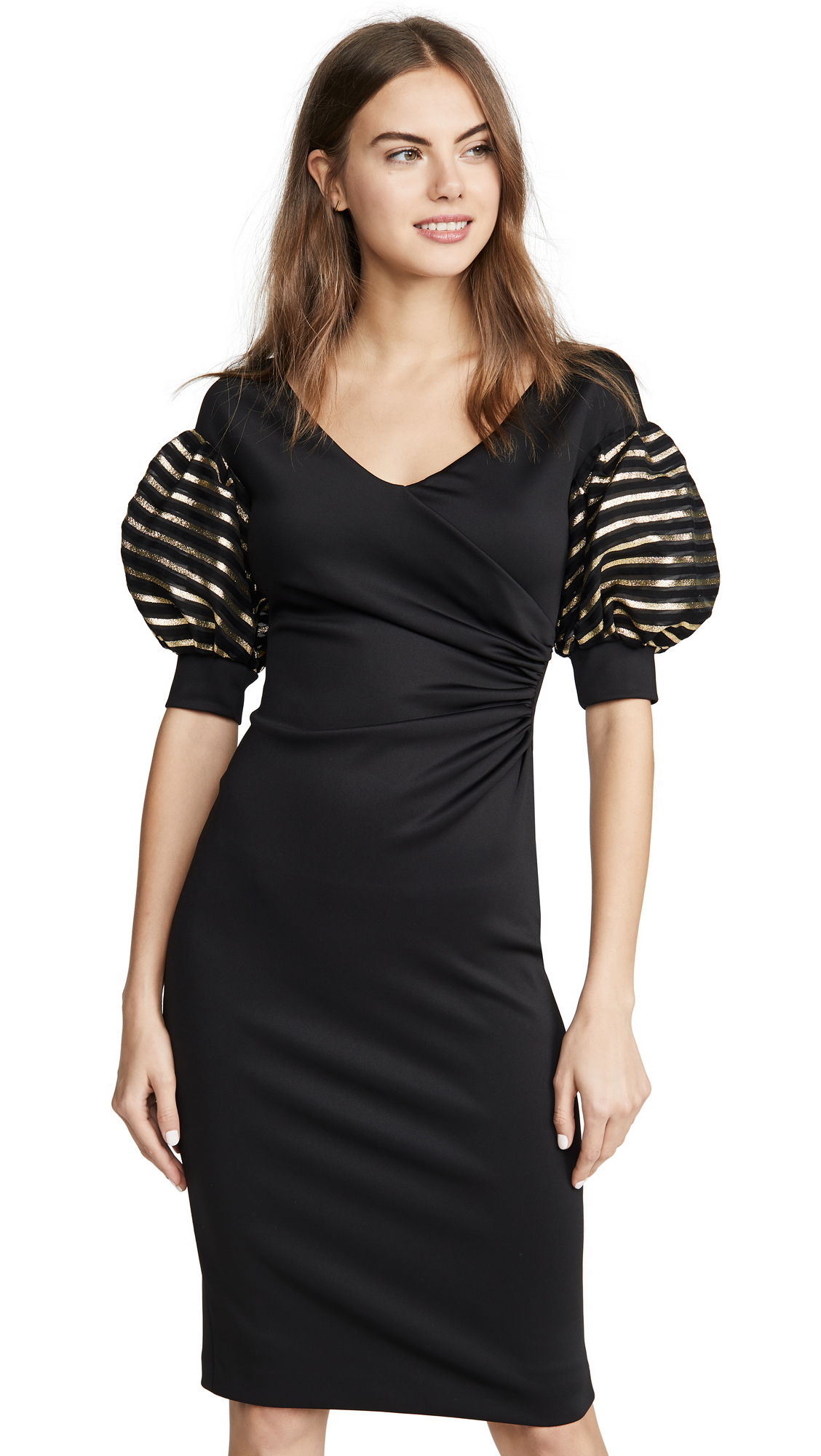 Black Halo Elora Cocktail Sheath Dress - 50% Off Sale