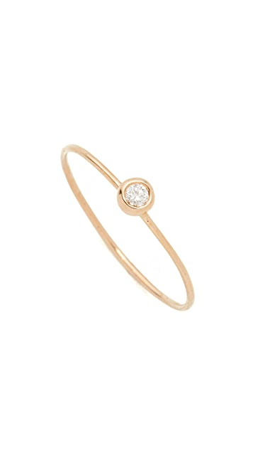 blanca monros gomez 14k Gold White Diamond Ring