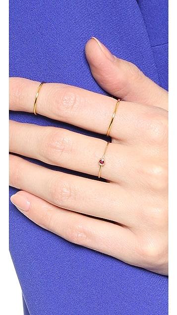 blanca monros gomez 14k Gold Ruby Seed Ring
