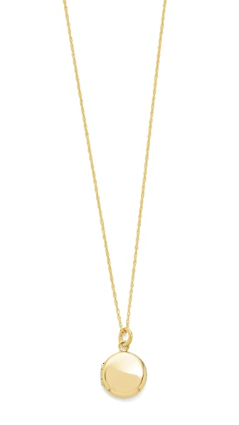 blanca monros gomez 14k Gold Keepsake Locket Necklace - Gold