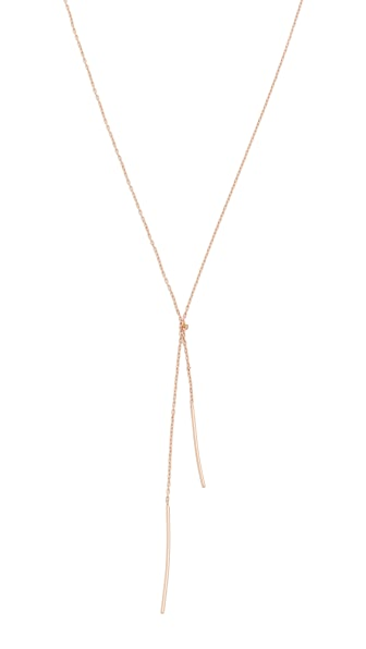 blanca monros gomez Stitch Necklace - Rose Gold