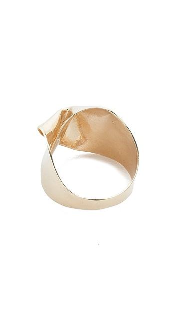 blanca monros gomez 14k Gold Big Fold Ring