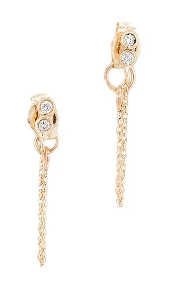 blanca monros gomez Seed Chain Stud Earrings