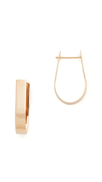 blanca monros gomez 14k Gold Thick Hoop Earrings - Gold