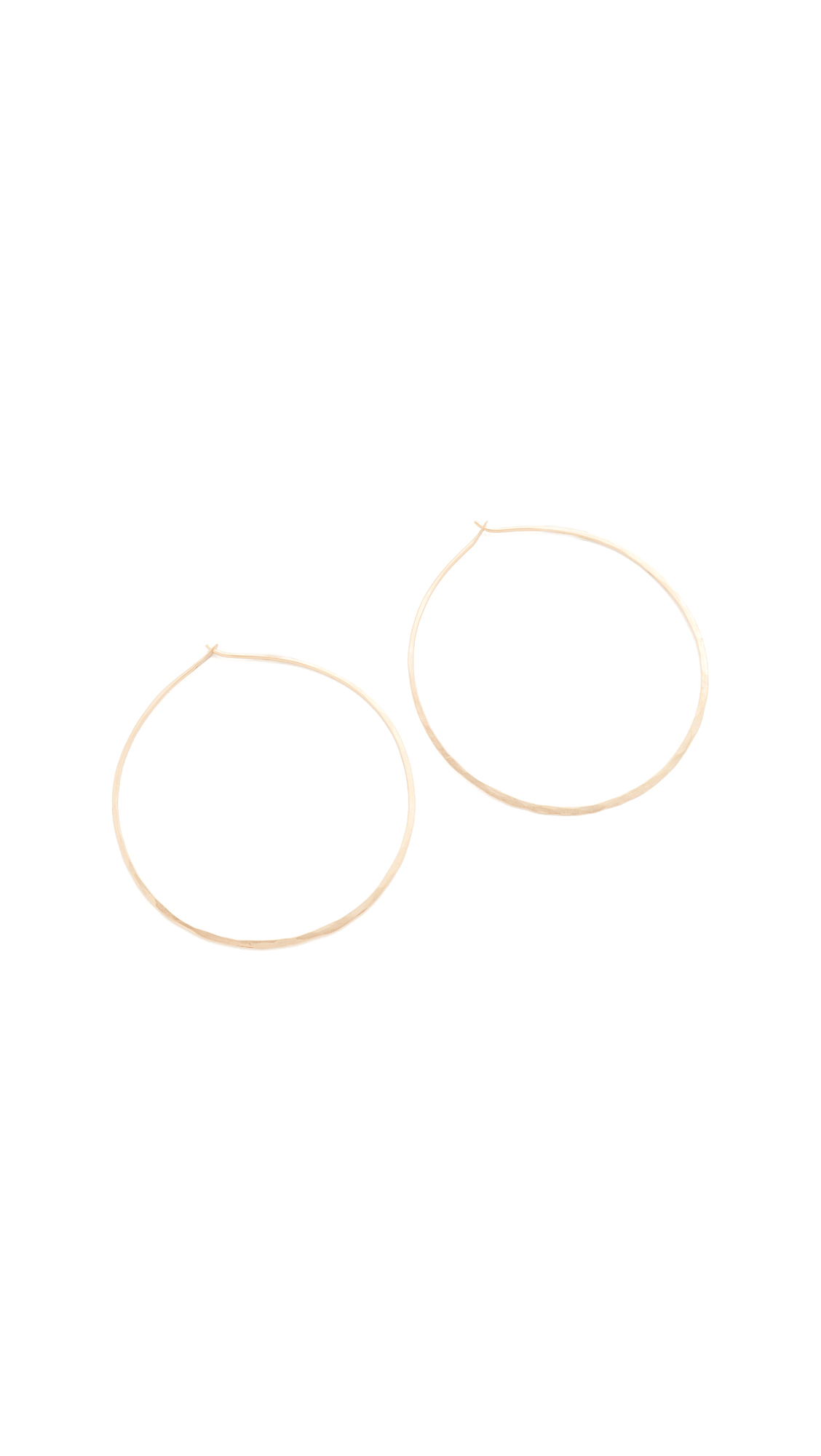 blanca monros gomez 14k Gold Summer Hoop Earrings - Gold