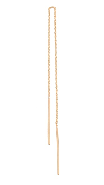 blanca monros gomez 14k Gold Stitch Earring - Gold