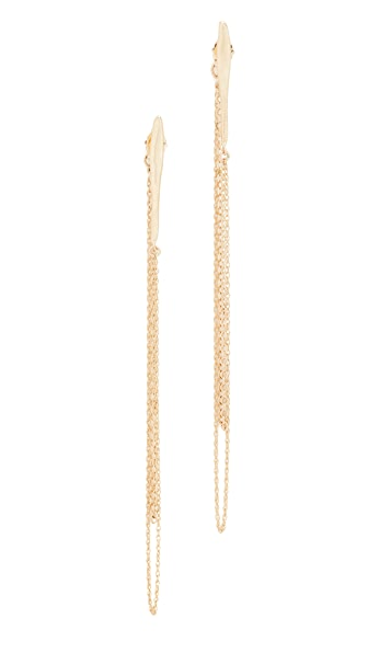 blanca monros gomez Large Wavy Chain Earrings