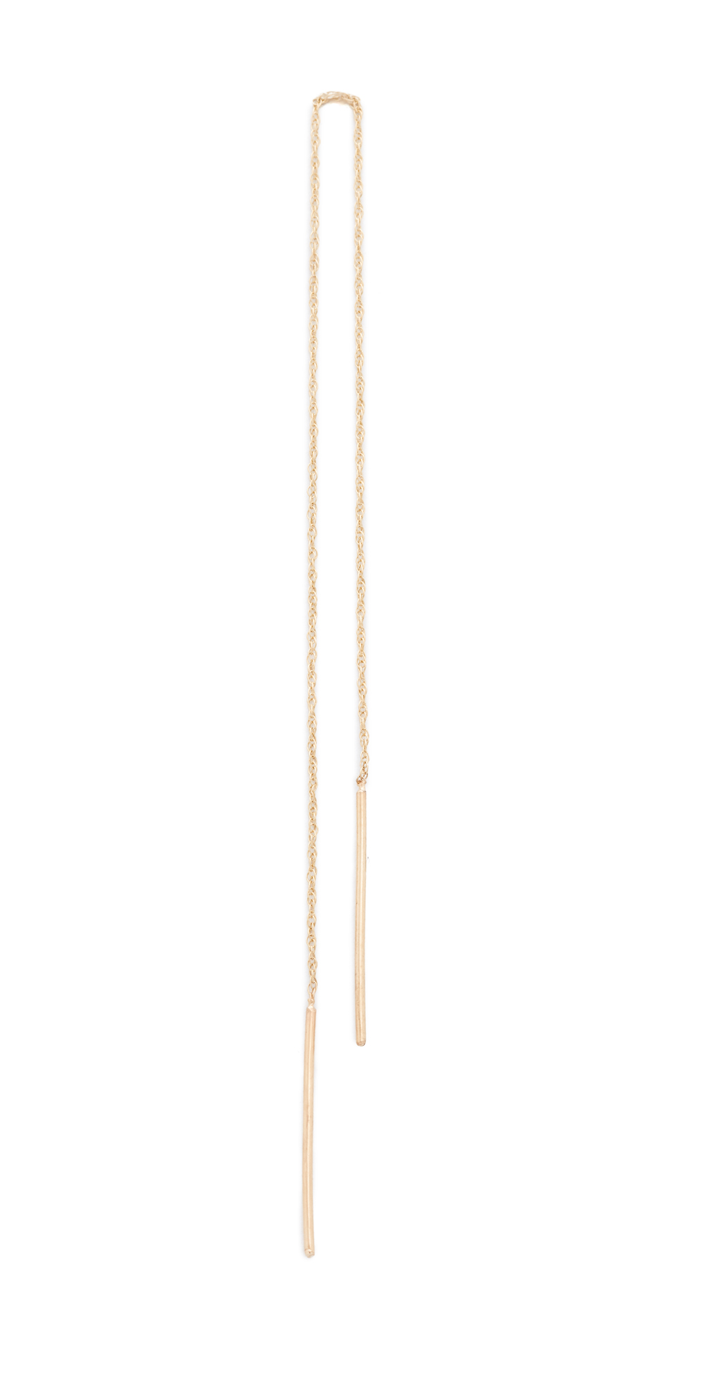 14k Gold Long Stitch Earring blanca monros gomez