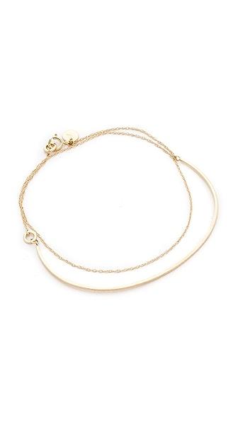 blanca monros gomez Camille Matte Chain Bracelet