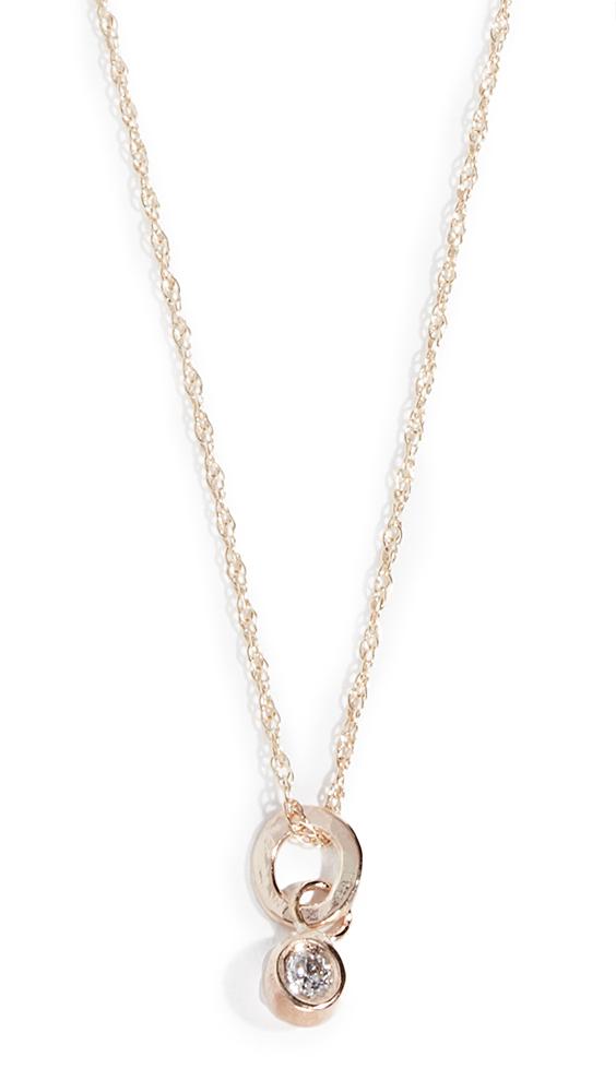 BLANCA MONROS GOMEZ Diamond Seed 14K Necklace in Gold