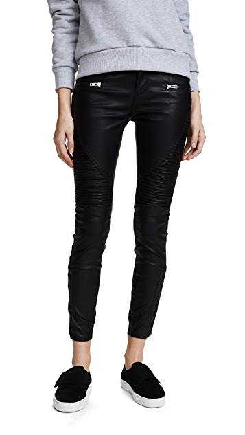 Blank Denim Black Vegan Leather Moto Pants