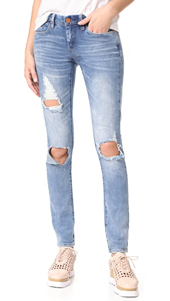 Blank Denim Distressed Skinny Jeans In Good Vibes