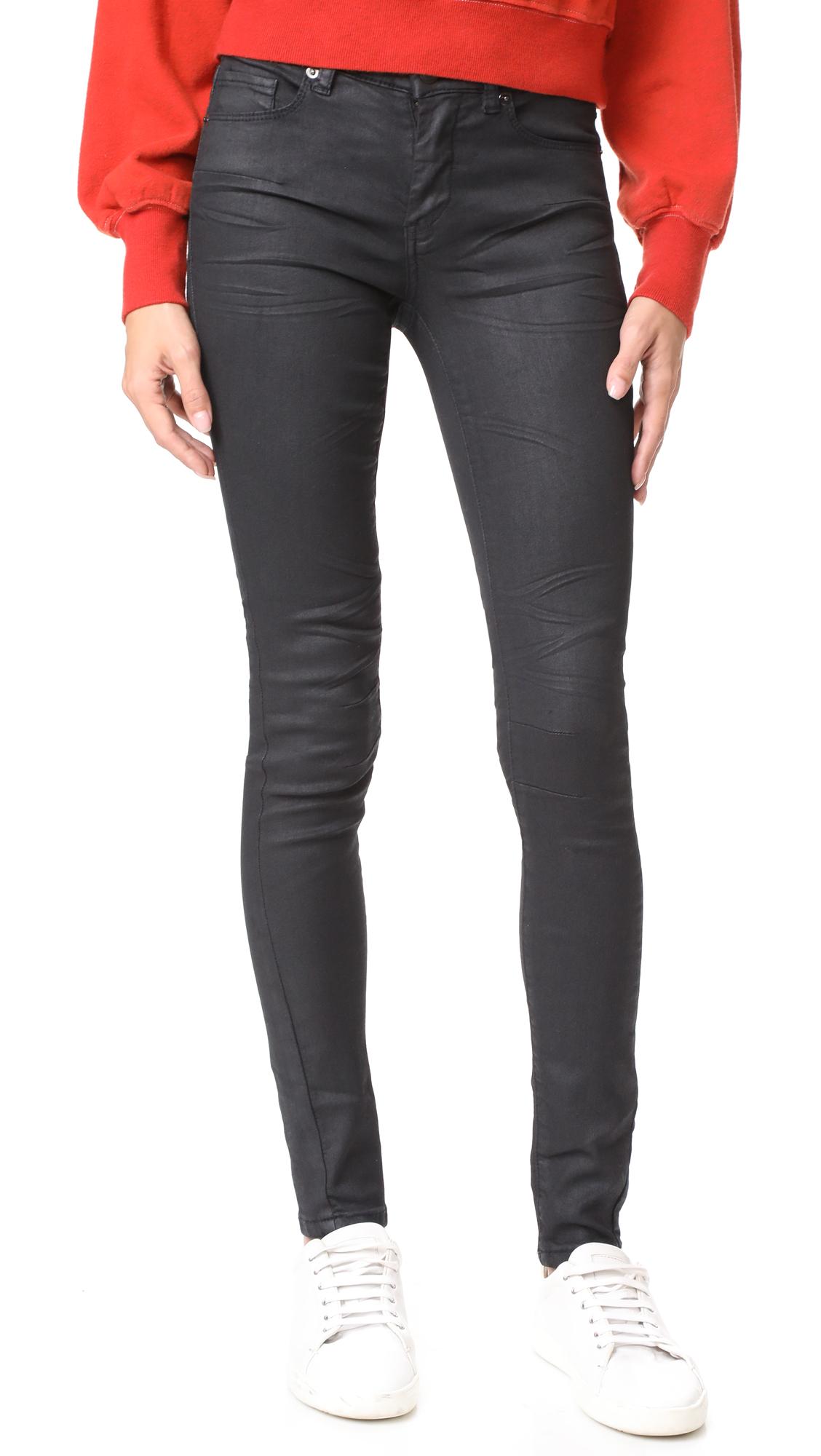 Blank Denim Coated Skinny Jeans - Follow Me