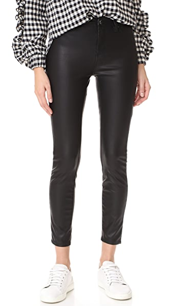 Blank Denim The Principle Mid Rise Vegan Leather Skinny Pants - Daddy Soda