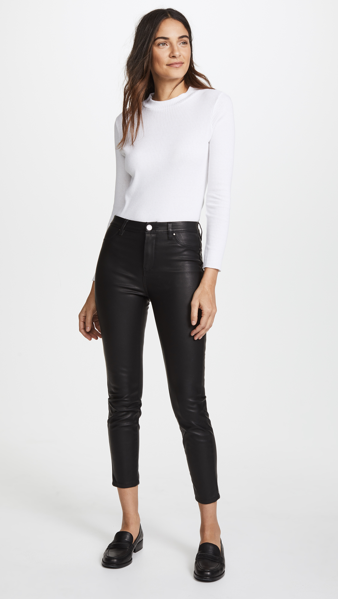 6a4ca1f4f98ea Blank Denim The Principle Mid Rise Vegan Leather Skinny Pants | SHOPBOP