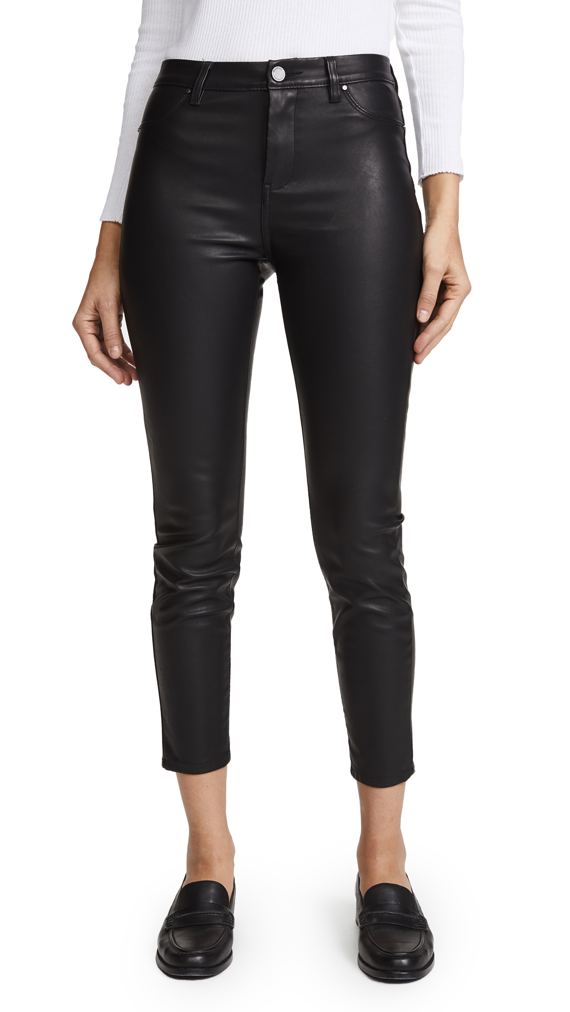 Blank Denim The Principle Mid Rise Vegan Leather Skinny Pants - Daddy Soda