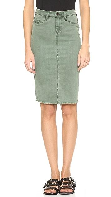 Blank Denim Pencil Skirt