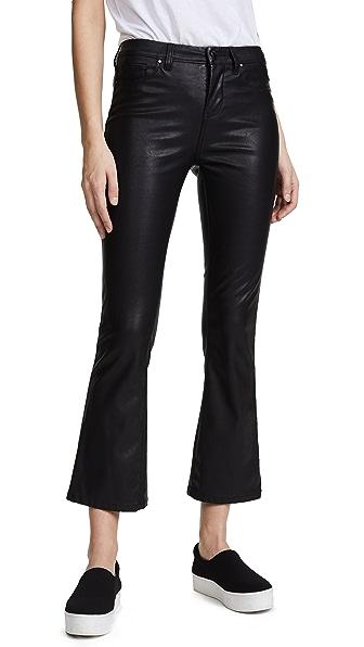 Blank Denim Vegan Leather Crop Kick Flare Pants - Daddy Soda