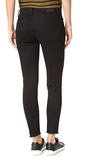 Blank Denim Ripped Raw Hem Skinny Jeans