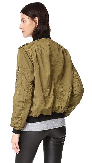 Blank Denim Bomber Jacket