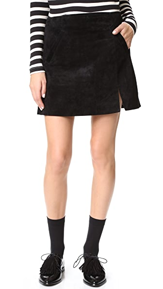 Blank Denim Zip Suede Mini Skirt - Seal the Deal