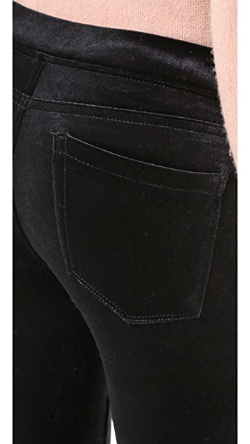 Blank Denim Velvet Flare Jeans