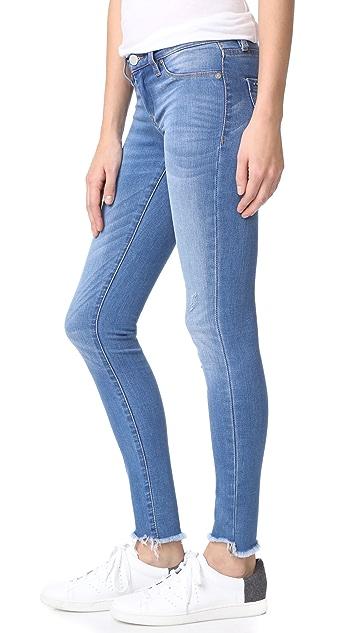 Blank Denim Raw Hem Skinny Jeans