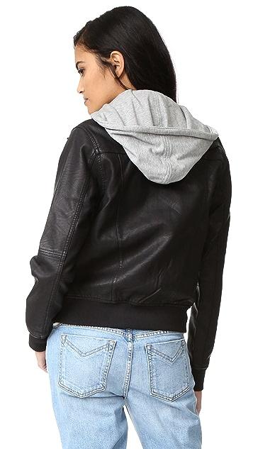 Blank Denim Utility Hoodie Jacket