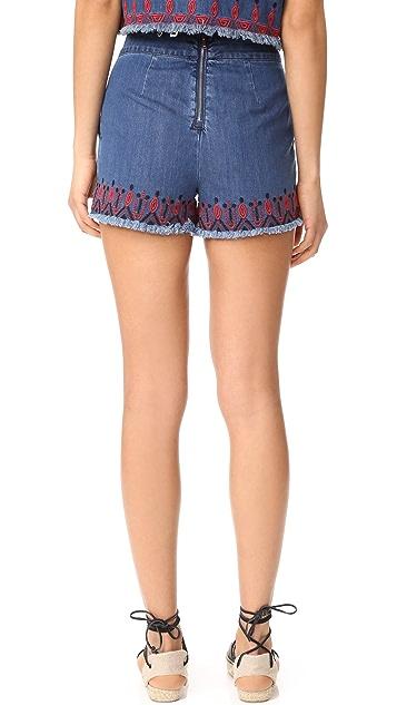 Blank Denim Blue Note Shorts